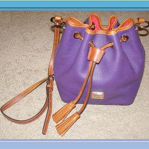 NEW Purple Dooney & Bourke Crossbody Bucket Bag